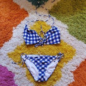 American Eagle Outfitters Gingham Bikini